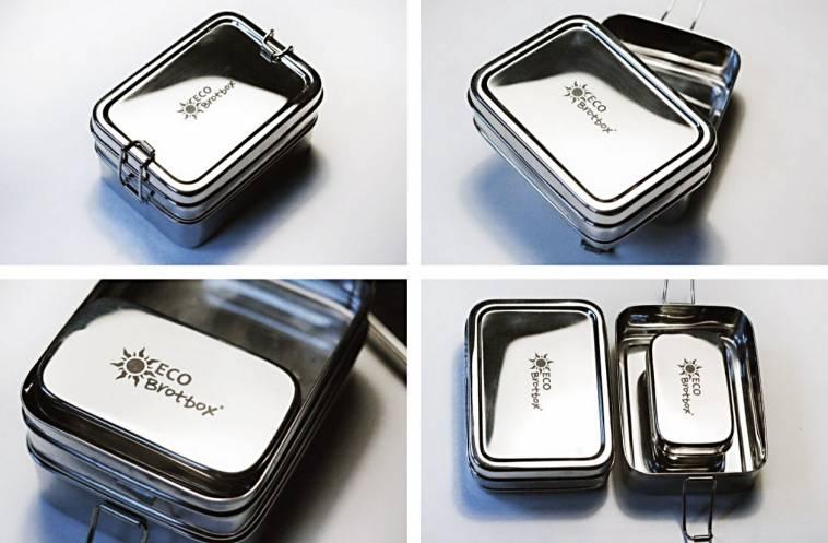 umweltfreundliche und gesunde brotbox aus edelstahl f r. Black Bedroom Furniture Sets. Home Design Ideas