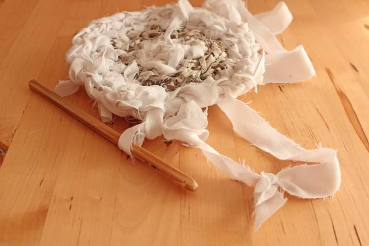 Teppich selber häkeln aus alten Kleidern und Stoff  Ich