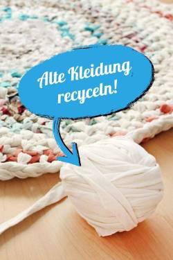 Teppich Selber Stricken Häkeln Aus Alten Kleidern Und Stoff Ich