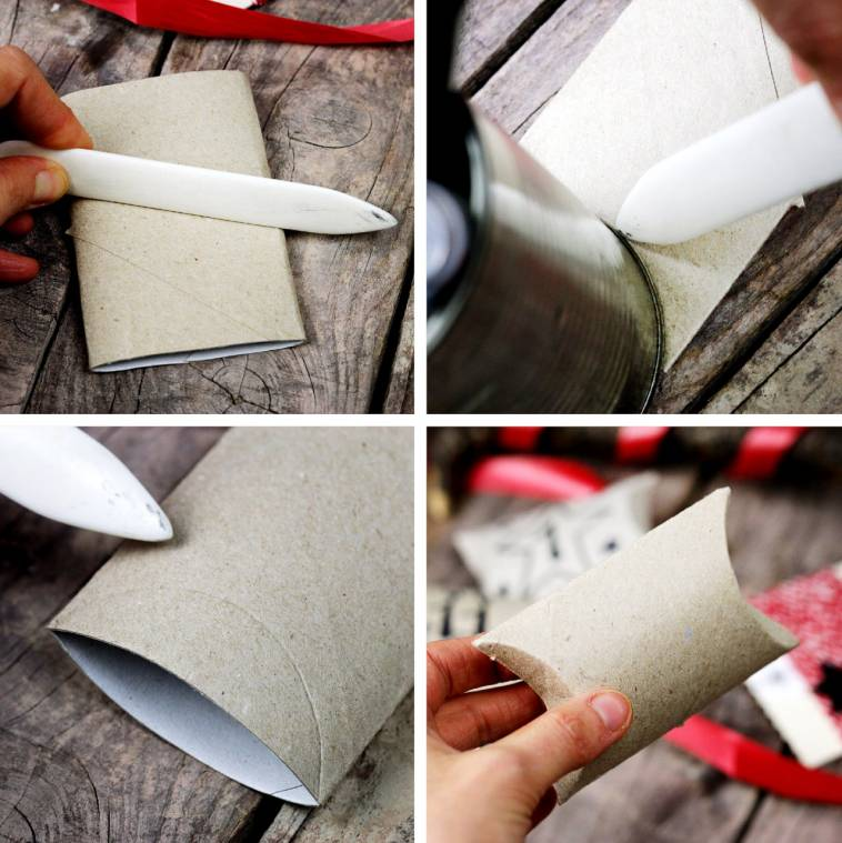 Recycling Klopapierrollen-Adventskalender DIY