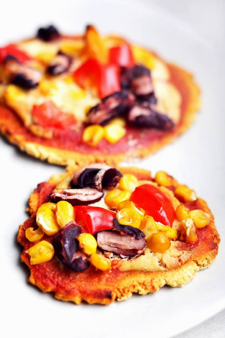 Vegane Mini-Pizzen