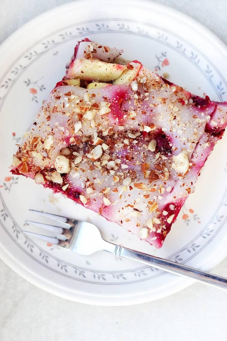 Apfel Ananas Himbeer Kuchen Mit Pudding Vegan Glutenfrei Ich