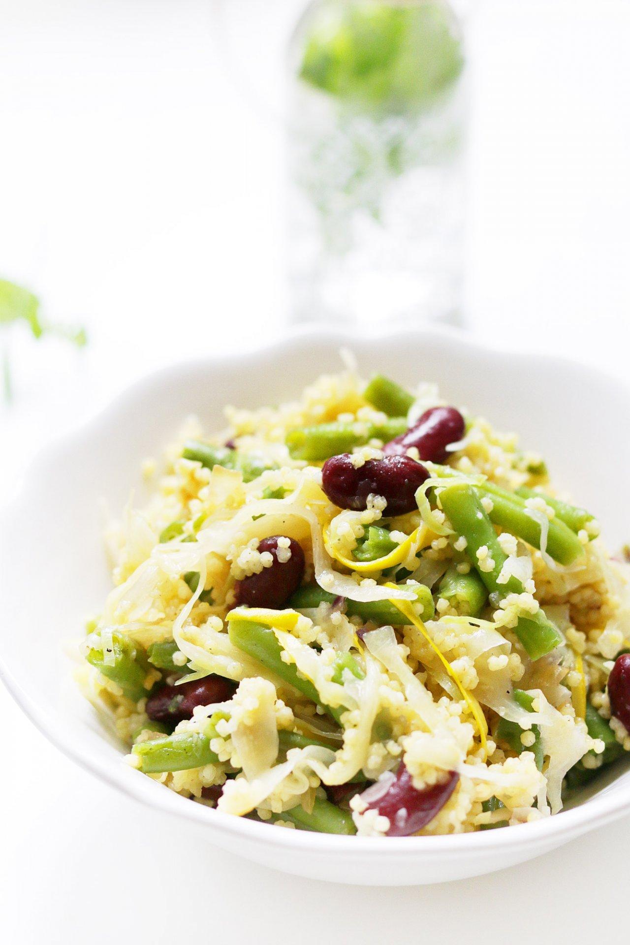 Hirse Bohnen Salat Mit Weißkohl Vegane Rezepte Ich Lebe Grün
